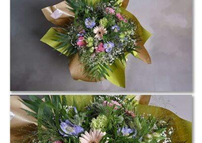 bouquet bulle petales de rose fleuriste la tour d-aigue