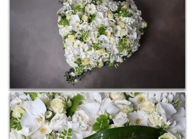 coeur blanc petales de rose fleuriste la tour d-aigue
