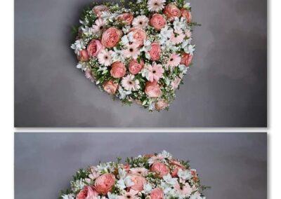 coeur camaieu de rose fleuriste la tour d-aigue vaucluse 84