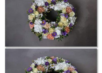 couronne a plat petales de rose artisan fleuriste 84
