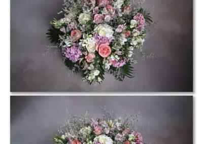 coussin rond camieu de rose fleuriste la tour d-aigue 84