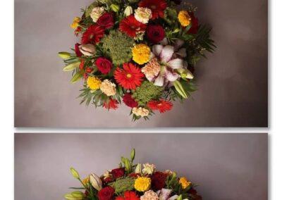 coussin rond colore fleuriste vaucluse